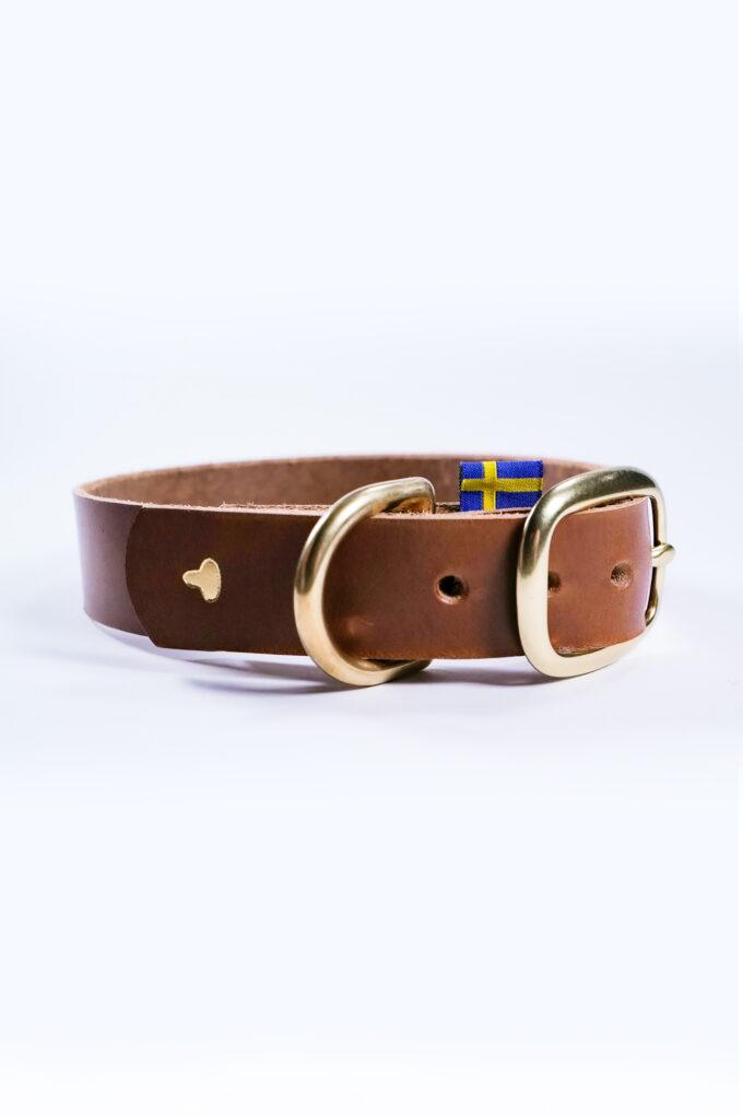 Greta Konjaksfärgat hundhalsband
