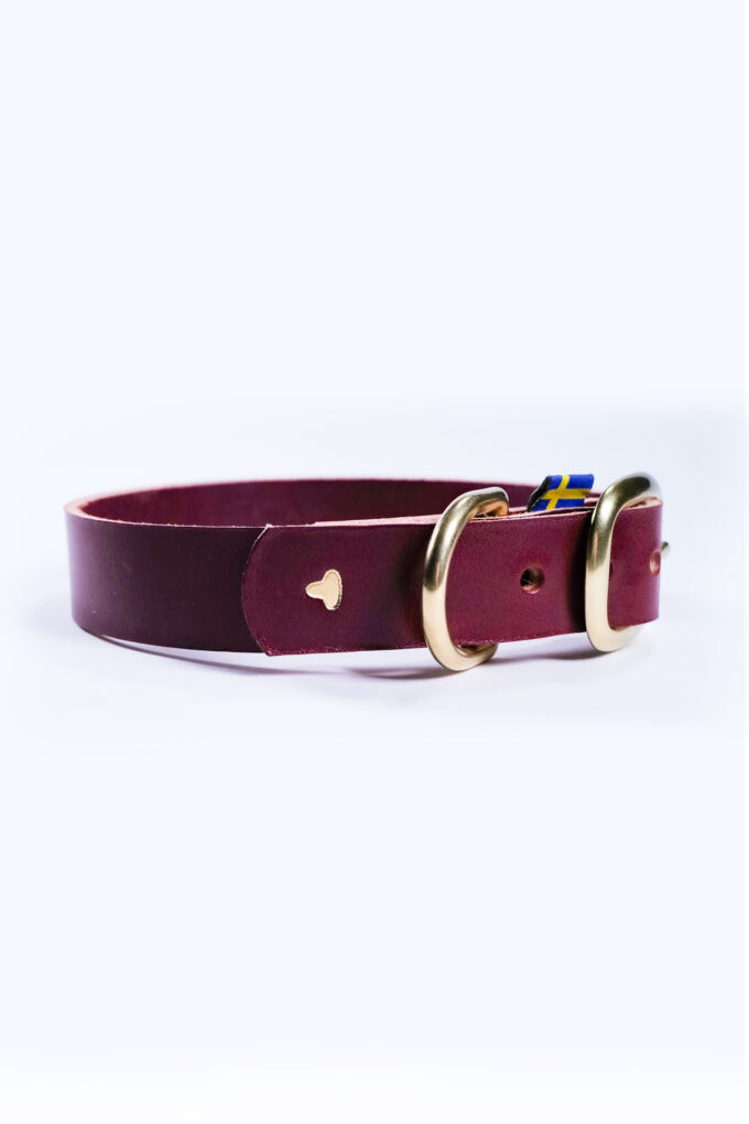 Greta hundhalsband röd