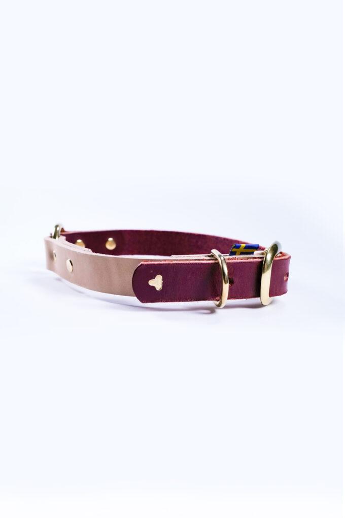 Hundhalsband rött natur